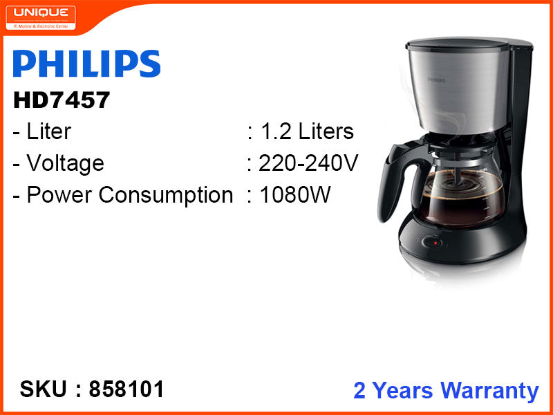 PHILIPS HD7457 1.2L,1080W Coffee Maker