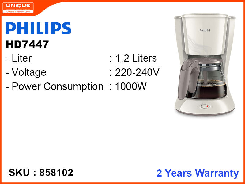 PHILIPS HD 7447 1.2L 1000W Coffee Maker