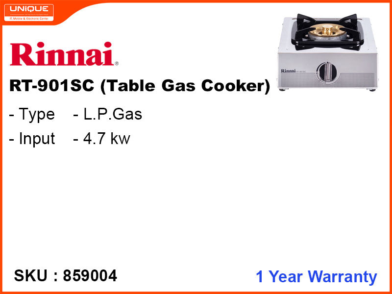 Rinnai Table Gas Cooker, RT-901SC
