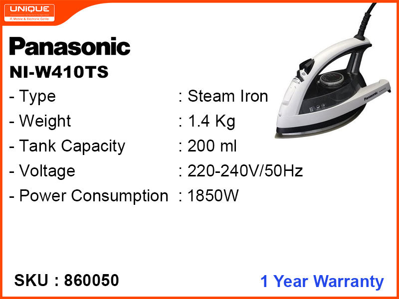 Panasonic 360 Degree Steam Iron NI-W410TS Black