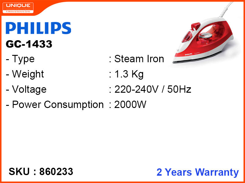 PHILIPS Steam Iron GC-1433