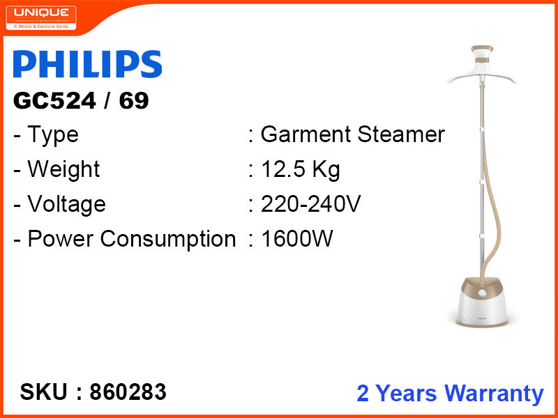 PHILIPS GC-524/69 1600W Garment Steamer (Easy Touch Plus)