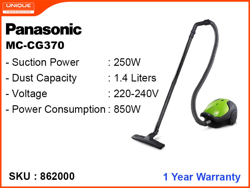 Panasonic MC-CG370 BAGGED COMPACT, 850W Vacuum Cleaner