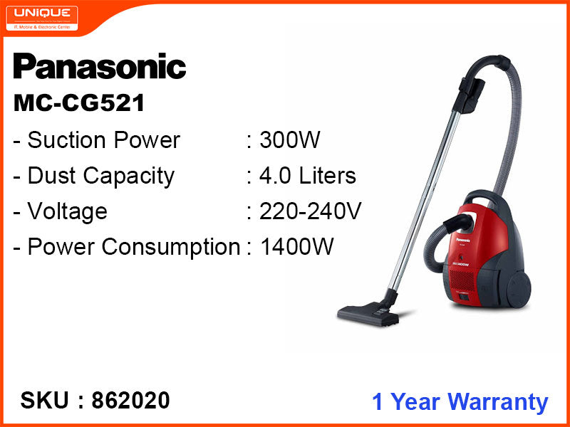 Panasonic MC-CG521 BAGGED MIDSIZE,1400W Vacuum Cleaner
