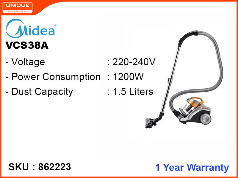Midea VCS38A BAGLESS CANISTER SERIES 1200W Vacuum Cleaner