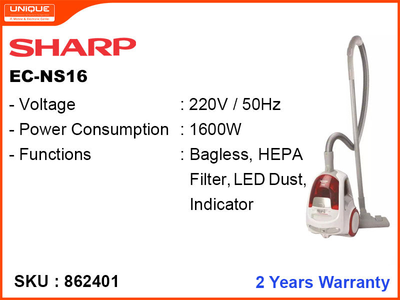 SHARP EC-NS16 1600W Vaccum Cleaner