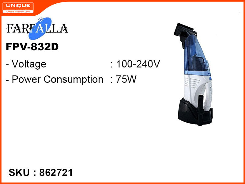 FARFALLA FPV-832D 75W Portable Vaccum Cleaner (with Battery)
