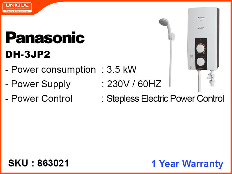 Panasonic DH-3JP2 Built-In Pump, Instand Water Heater