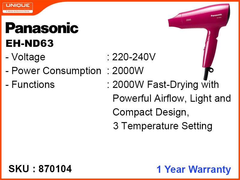 Panasonic EH-ND63 2000W Hair Dryer