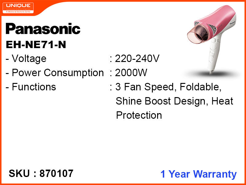 Panasonic EH-NE71-N 2000W Hair Dryer