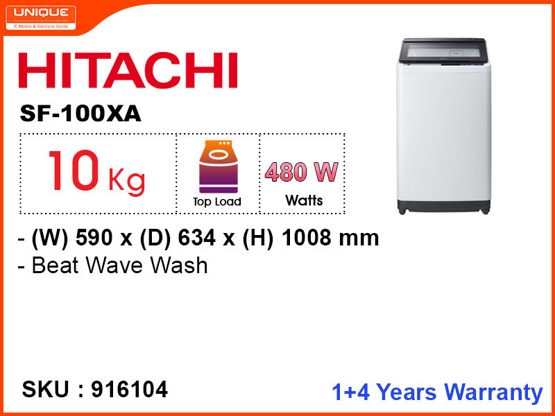 HITACHI SF-100XA Fully Auto,10kg Washing Machine