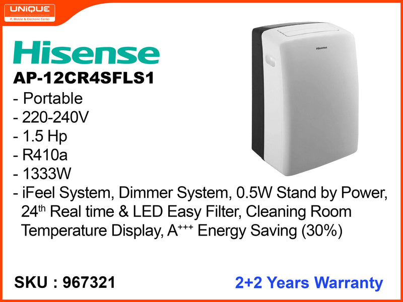 Hisense AP-12CR4SFLS1, 1.5HP, Portable Air Conditioner