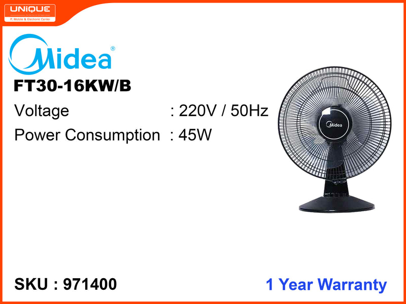 Midea FT30-16KW/B Table Fan