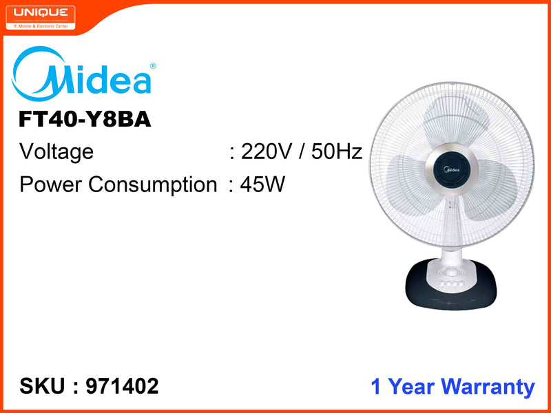 Midea FT40-Y8BA Table Fan