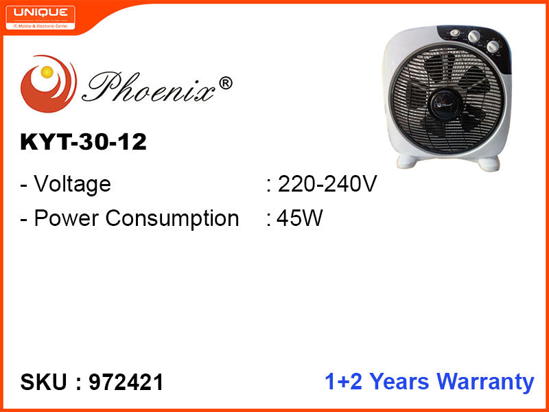 Phoenix Box Fan (KYT-30-12)