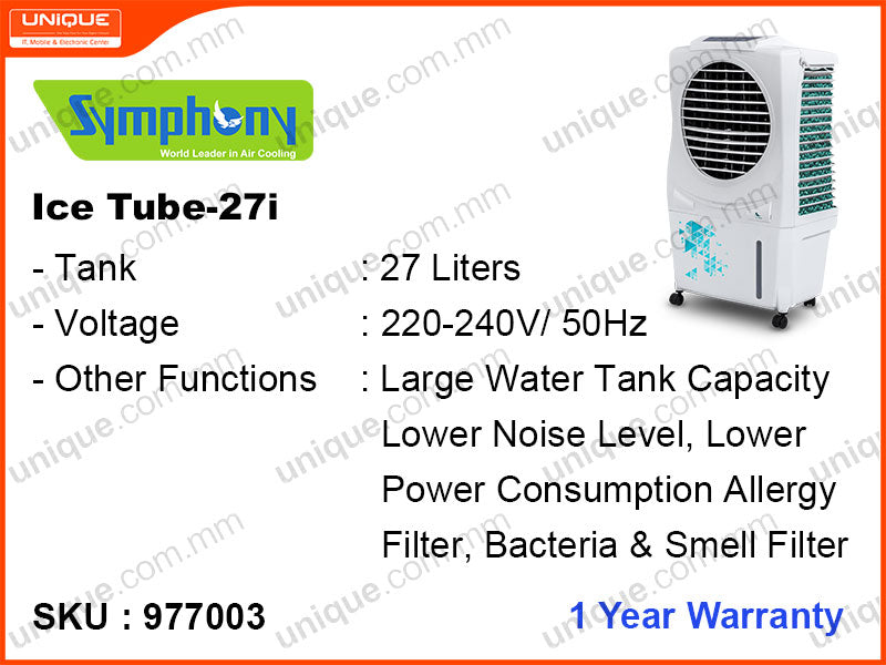 Symphony Ice cube 27i 27L,105W Air Cooler