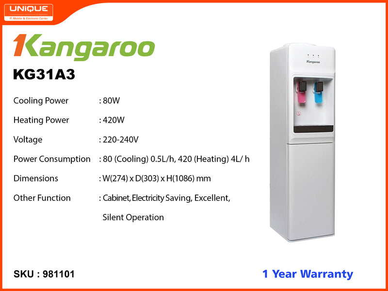 Kagaroo KG31A3 Hot, Cool Water Dispenser