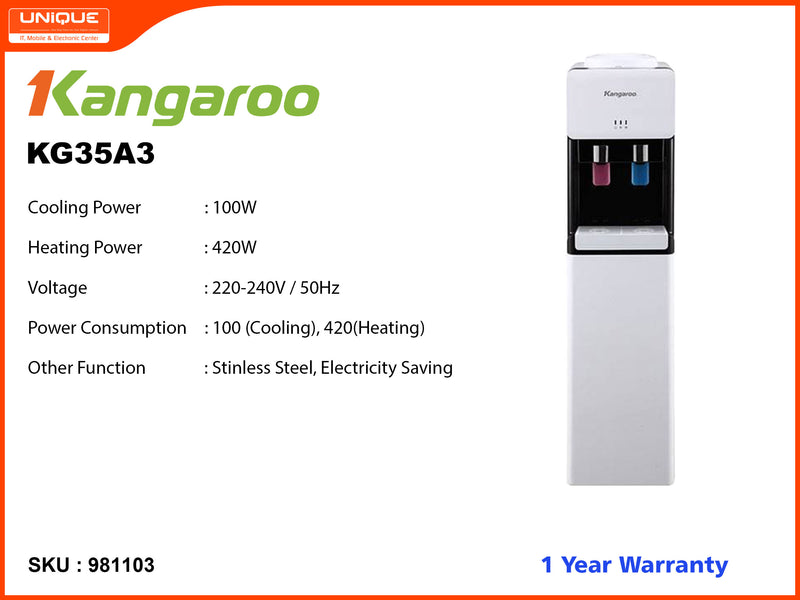 Kangaroo KG35A3 Hot, Cool Water Dispenser