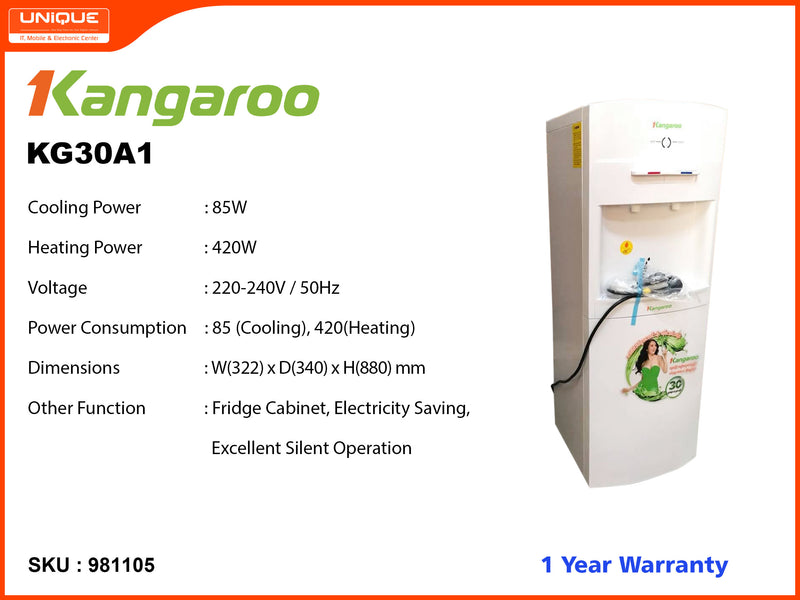 Kangaroo KG30A1 Hot, Cold Water Dispenser