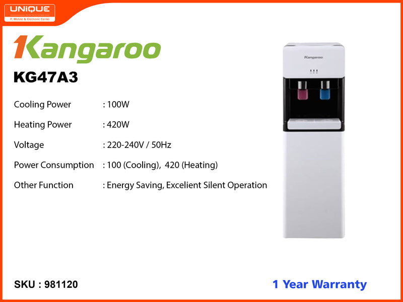 Kangaroo KG47A3 Hot, Cool Water Dispensor (With Suction Tank)