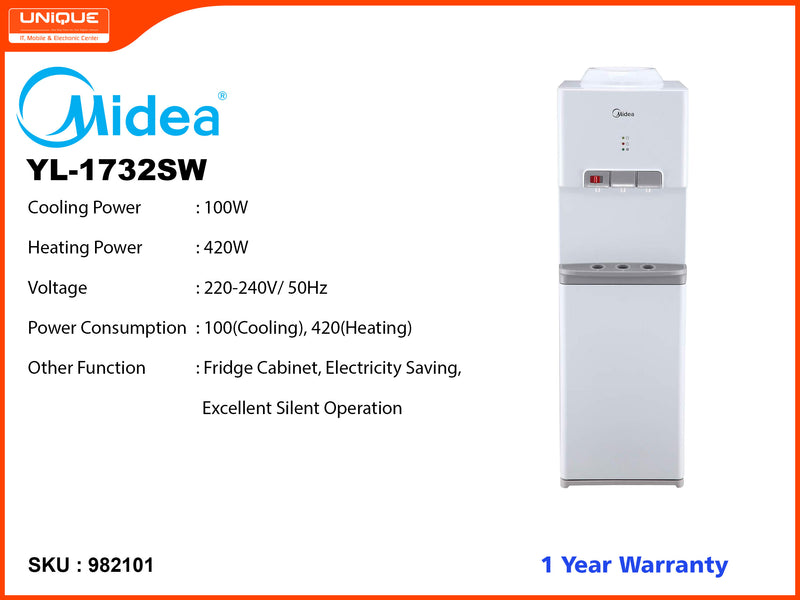 Midea YL-1732SW Normal, Hot, Cold Water Dispenser