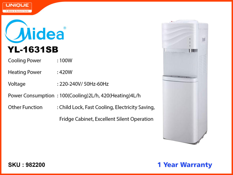 Midea YL-1631SB Normal, Hot, Cold Water Dispenser (with Refrigeration)