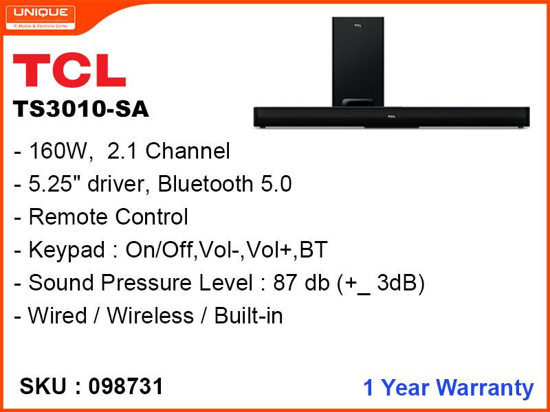 TCL Bluetooth Sound Bar TS3010-SA 160W