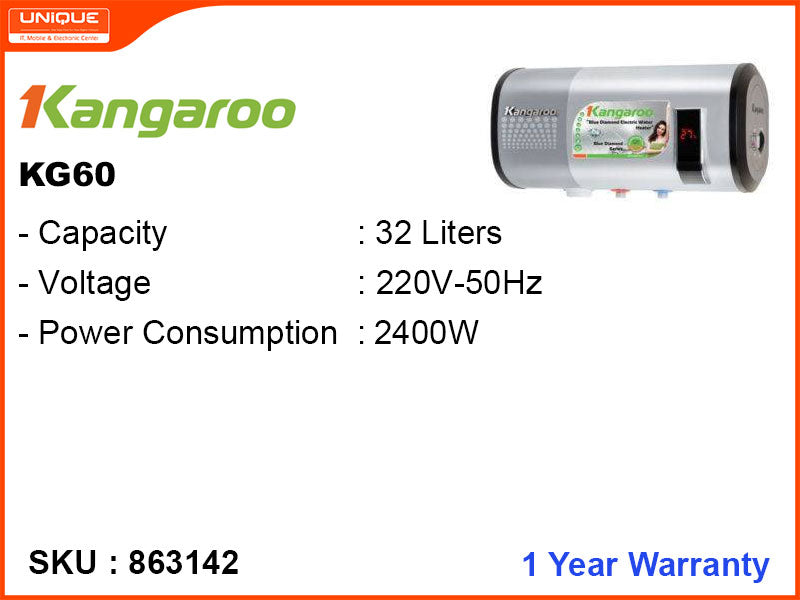 Kangaroo KG60 W/O Pump, 32L, 2400W Storage Water Heater
