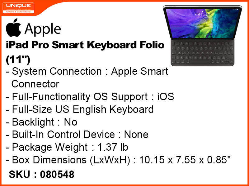 "Apple iPad Pro 11"" Smart Folio Keyboard"