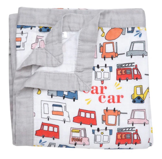 Muslin Blanket - Cars 4 Layers