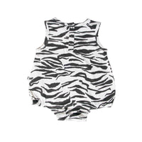 Romper - Tiger Stripe White