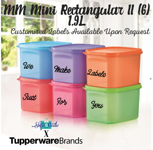 Tupperware Modular Mates Mini Rectangular II (6) 1.9L