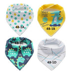 Waterproof Cotton Bandana Drool Bib for Baby Boys and Girls_Set 01