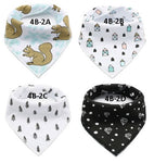 Waterproof Cotton Bandana Drool Bib for Baby Boys and Girls_Set 02
