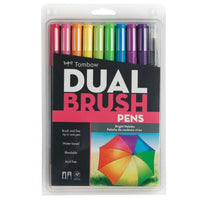 Tombow Dual Brush Pen Set, 10 Bright