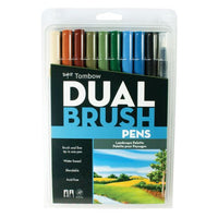 Tombow Dual Brush Pen Set, 10 Landscape