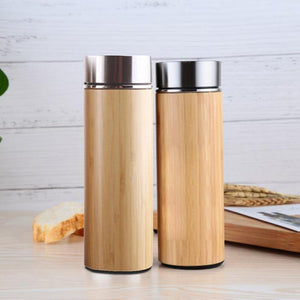 Mug isotherme en bambou recyclé avec son infuseur de thé, 100% naturel, Made in France | The Luxe Wood® - The Luxe Wood