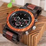"Montre en bois pour homme ""ANTARES"", 100% naturelle et faite à la main, Made In France 