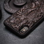 Coques Deluxe en Ébène, pour iPhone X/XR/XS/MAX, naturelle et en bois recyclé, Made In France | The Luxe Wood® - The Luxe Wood