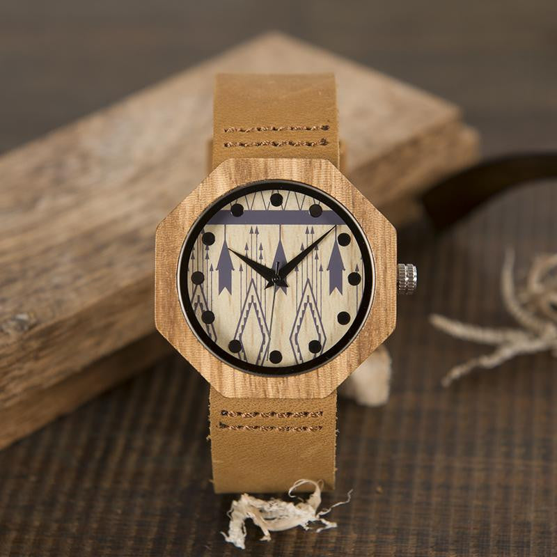 "Montre en bois pour femme ""MERIDIANA"", 100% naturelle, faite à la main, Made In France 