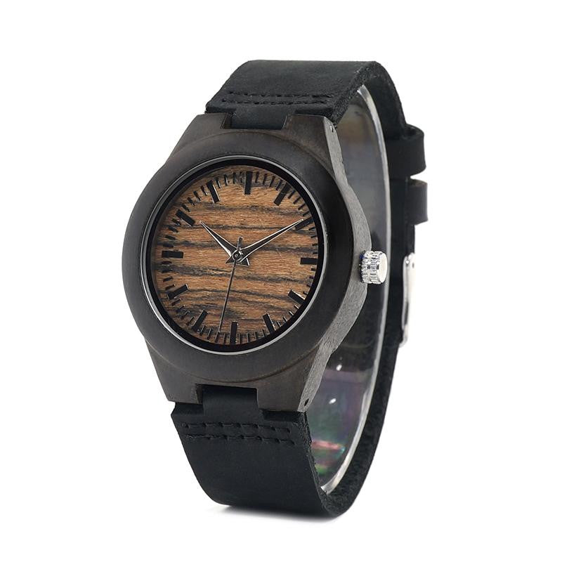 "Montre en bois pour femme ""CARINA"", 100% naturelle, faite à la main, Made In France 