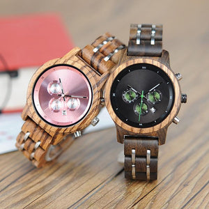 "Montre en bois pour femme ""MONA"", 100% naturelle, faite à la main, Made In France 