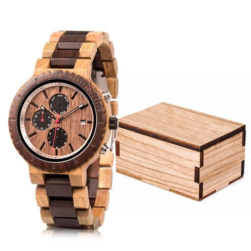 "Montre en bois pour homme ""CEPHEI"", 100% naturelle et faite à la main, Made In France 