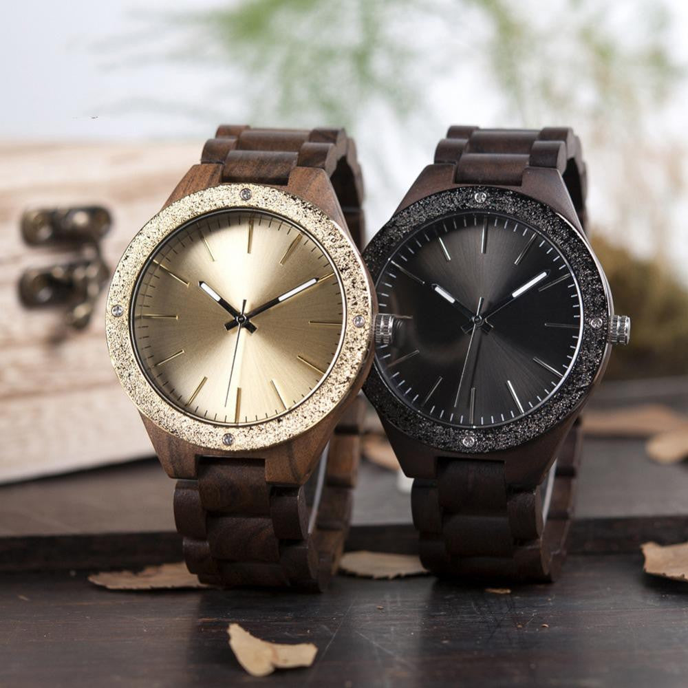 "Montre en bois pour homme ""HYDRAE"", 100% naturelle et faite à la main, Made In France 