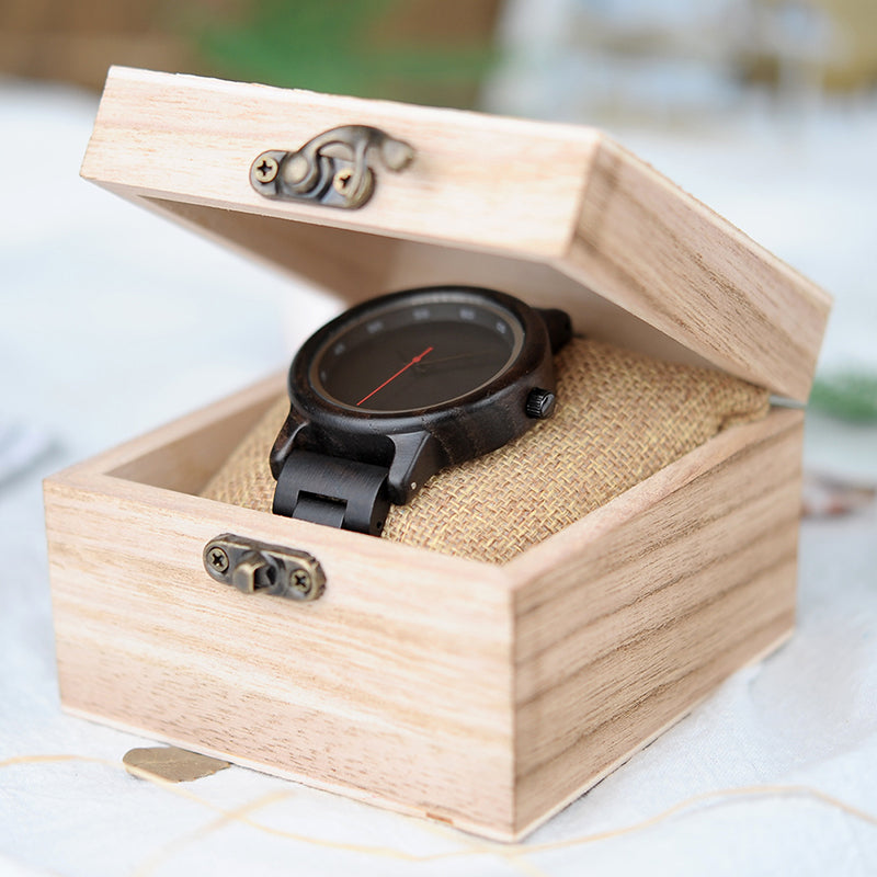 "Montre en bois pour homme ""PEGASI"", 100% naturelle et faite à la main, Made In France 