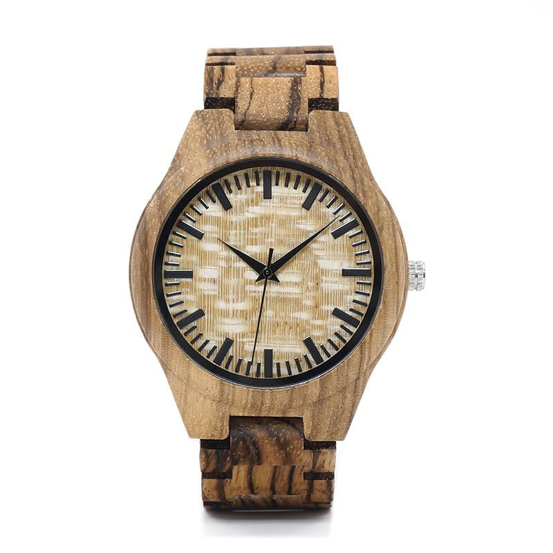 "Montre en bois pour homme ""BOOTIS"", 100% naturelle et faite à la main, Made In France 