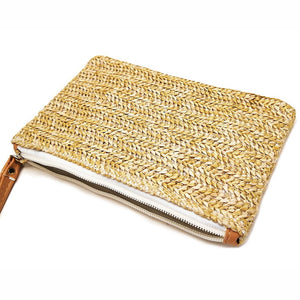 Pochette en paille, fait main, 100% naturelle, Made In France | The Luxe Wood® - The Luxe Wood