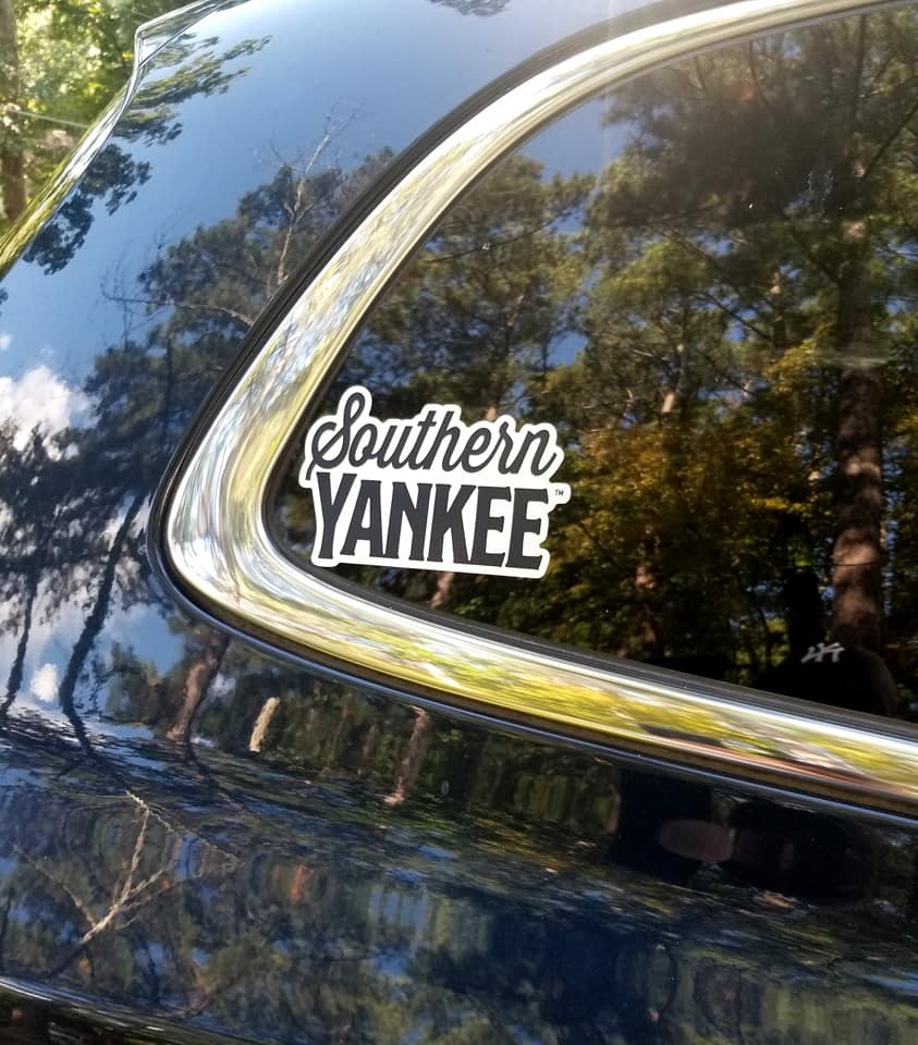 Southern Yankee Stacked Logo Auto Decal - Southern Yankee