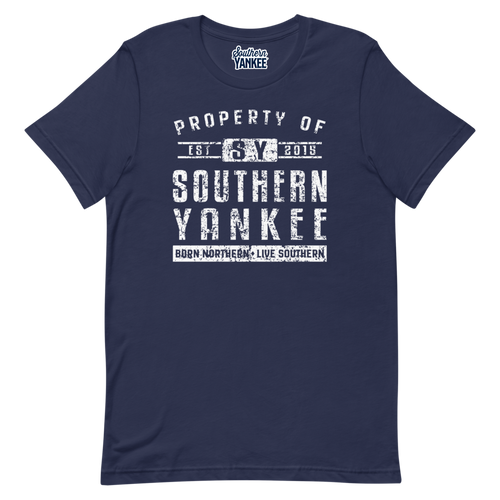 Property Of T-Shirt White Text - Southern Yankee