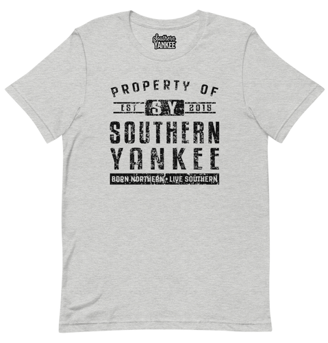 Property Of Tee Black Text - Southern Yankee